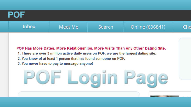 pof login page pof login help plentyoffish login